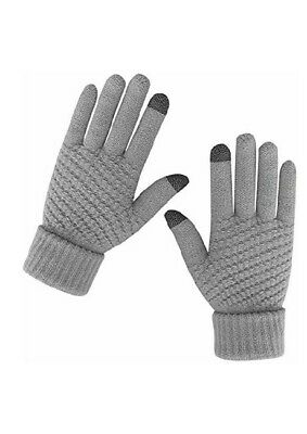Unisex Women and Man Winter Warm Touch Screen Gloves Stretch Knitted Wool Mitten