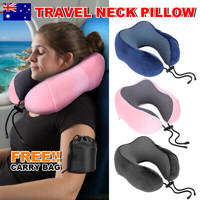 Travel Pillow Neck Cushion Support Memory Foam Rebound Office U Shaped Airplane