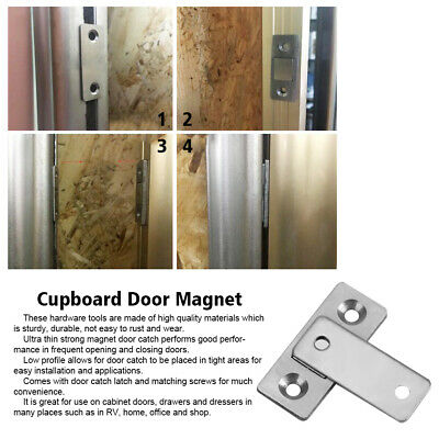 Ultra Thin Strong Magnetic Door Catch Latch for Cabinet Cupboard with Screws