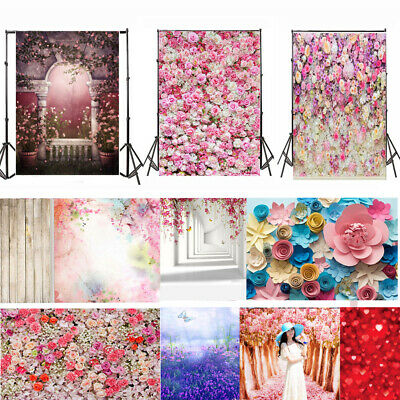 UK Flower Photography Backdrop Photo Studio Background Valentine's Day