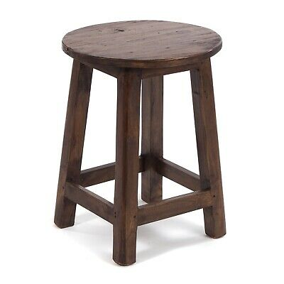 RUSTIC STOOL COTTAGE | 46x30cm (HxØ), mahogany, | side table, decoration stool