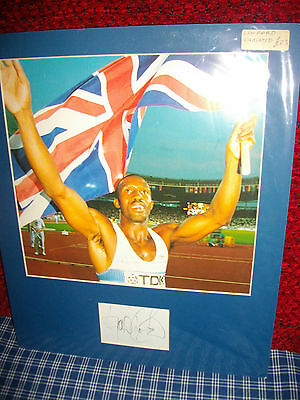 Linford Christie Autographed Mount Athletics Olympics