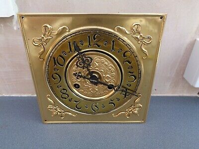 Wall Clock Vienna ? Dial & Movement Unusual 198 Mm Sq Dial Parts Spares