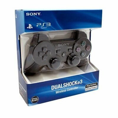 Brand NEW Sony PlayStation 3 PS3 DualShock3 Wireless SixAxis Controller Black CF