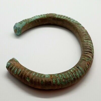 Bronze Art Massive Bracelet  / Ornament / 1100-800BC. Celtic Scythian Koban