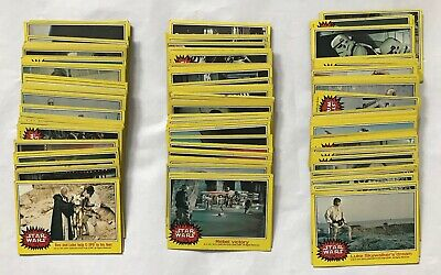 Vintage Topps Star Wars Yellow Border Series 3 Lot of 150+ Trading Cards 1977
