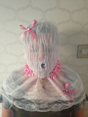 Sissy * Adult Baby * Fetish * Cd/Tv * Lockable Slave Hood With Mouth Sleeve