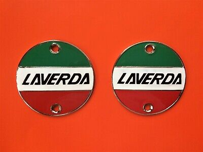 Laverda 1000 Jota 180 1200 /Sf Fuel Tank Metal Badges Pair