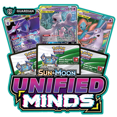50x UNIFIED MINDS Pokemon Online in-Game Pack Codes Sent Fast!