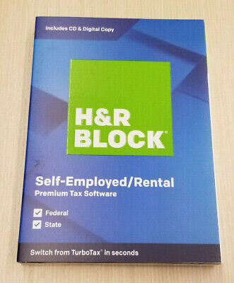 H&R BLOCK TAX SOFTWARE PREMIUM 2019 Brand New Sealed. Ships FAST FREE 3 DAY !!