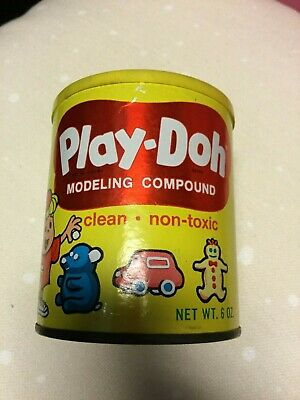 Vintage Play-Doh Metal Canister from 1968