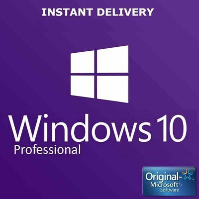 Windows 10 Pro Key Esd Retail 32 / 64 Bit Chiave Di Licenza Originale Microsoft