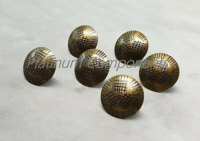 20 x NEW BRONZE PATTERN DECORATIVE UPHOLSTERY NAIL BUTTONS / TACKS / STUDS PINS