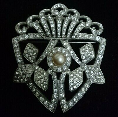 Exquisite Rare Large Antique Art Deco Brooch circa 1920 Neiger Brothers?