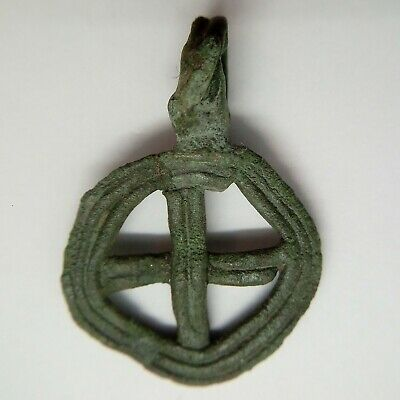 Bronze Amulet 卐  Ursa Major / Solar sign / 600-900AD Viking / Rus Pendant