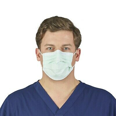 Halyard Disposable Face Mask Surgical Medical Level 1 - Blue 47080 (Box of 50)