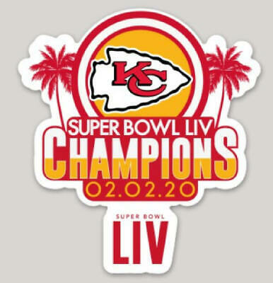 Kansas City Chiefs Super Bowl LIV Champion Die Cut Sticker Decal