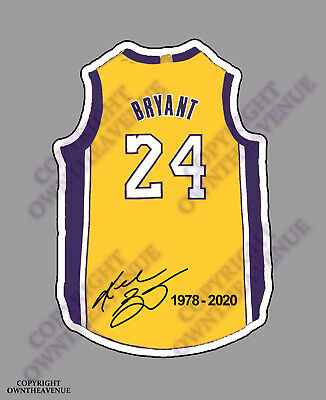 "Kobe Bryant #24 Basketball Vinyl Sticker Car Truck Decal Laptop Bumper 4"" Fcjz"