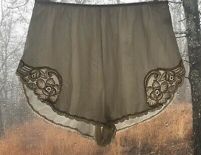 VTG VANITY FAIR Nylon Antron ||| Lace Creme Hipster  BRIEF PANTIES SZ 6