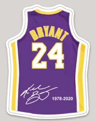 Kobe Bryant #24 Basketball Vinyl Jersey Sticker Car Truck Decal Laptop Bumper