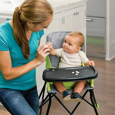 Summer Infant POP N' SIT Portable/Foldable Booster Seat High Chair GREEN