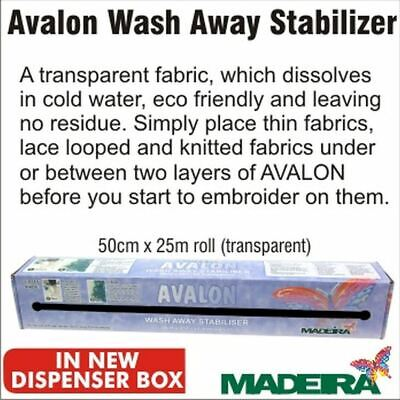 Avalon Wash Away Stabiliser 50cm wide by THE METRE
