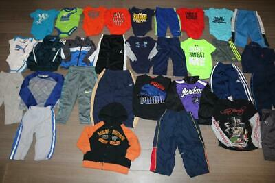 Huge Lot 31 Under Armour Nike Baby & Toddler One-Piece Pants Jackets Puma Adidas