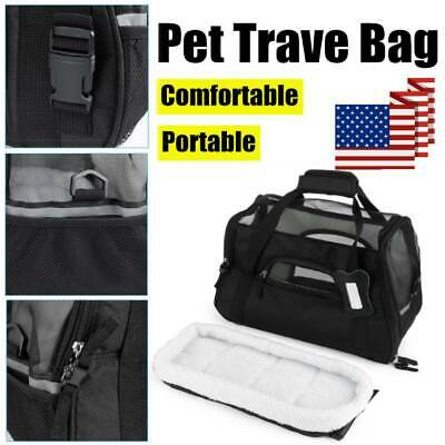 Pet Carrier Soft Sided Puppy Kitten Cat Dog Tote Bag Travel Airline Portable NEW