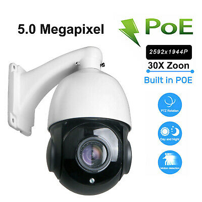 5MP CCTV 1080P Outdoor IR 100m IP PTZ Camera 30x Optical Zoom Built in POE AUTO