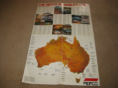 The Repco Reliability Trial 1979 Poster. Peter Brock Holden Commodore.