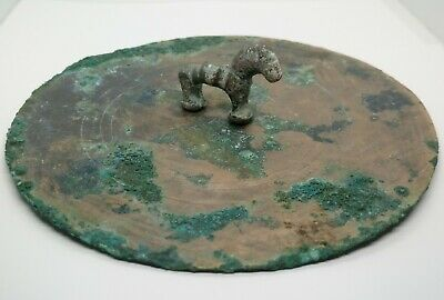 Art Bronze Large Mirror Horse 151mm. / Scythian / Koban  1100-600BC. Rare