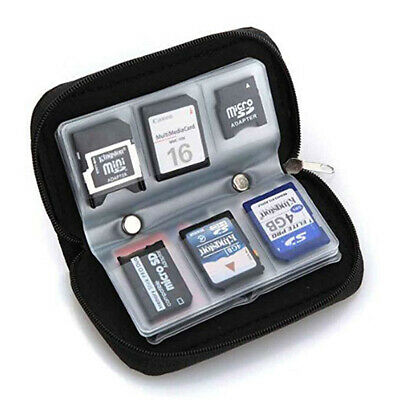 22-Slot Memory Card Case SD SIM CF Card Holder Portable Carrying Pouch Bag US