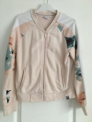 Girls Puma Jacket Age 11-12 Peach/Multi