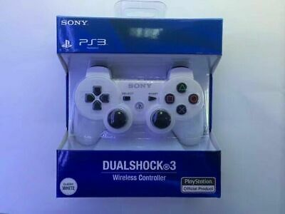 Brand NEW Sony PlayStation 3 PS3 DualShock3 Wireless SixAxis Controller White CF