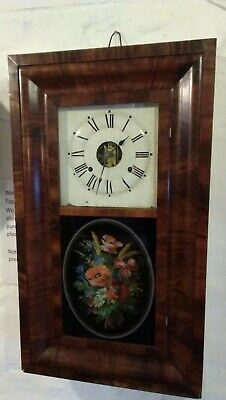 Antique Seth Thomas Wall clock,8 day movement, strikes on a gong, late 1800s