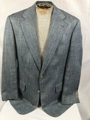Brooks Brothers Men's Gray Houndstooth 100% Wool 2 Button Blazer Coat Size 40 RG