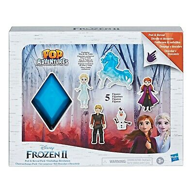 Disney Frozen 2 Peel & Reveal Small Doll Storybook Playset with Anna, Elsa, Olaf