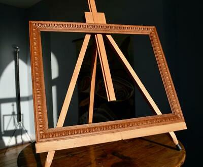 "Superb Antique Edwardian Carved Oak Picture Frame 13"" X 10"" Rebate Arts & Crafts"