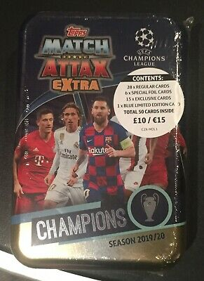 Match Attax Champions League 2019/20 Extra Mega Tin Champions with Salah