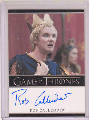 Game Of Thrones Season 7 Autograph Card BO Rob Callender as Clarenzo