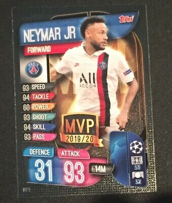 Match Attax Champions League 2019/2020 Extra Neymar Jr MVP card