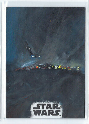 Topps Star Wars Kylo Ren On Jakku Painted Sketch By Ward Silverman Auto 1/1
