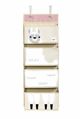 3 Sprouts llama Hanging Wall Organizer- Storage for Nursery and Changing Tables