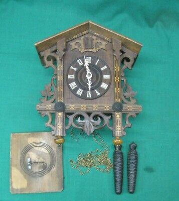 "16"" RARE ANTIQUE George Kuehl & Co., Chicago Illinois. Cuckoo Clock 1906"