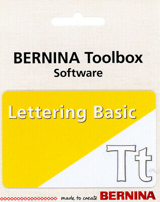 Bernina ToolBox Software - Lettering Basic