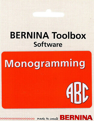 Bernina ToolBox Software - Monogramming