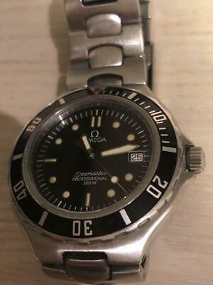 Omega Seamaster Professional 200M Antique Men's Watch Black Dial Stainless Steel