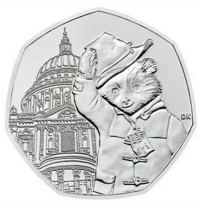 *EXTREMELY RARE* Paddington Bear 50p at St Paul's Cathedral. Collectors coin