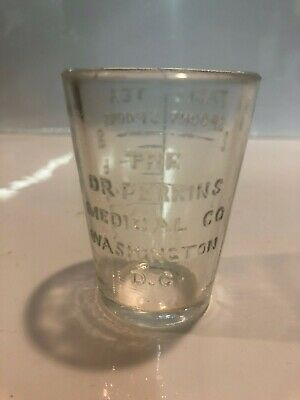Dr Perkins Washington Dc Dose Cup Antique Medicine Apothecary Pharmacy Druggist