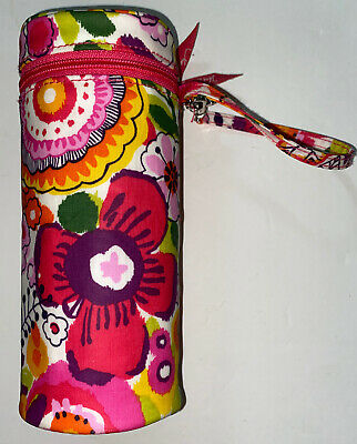 Vera Bradley Bottle Caddy Warmer Insulated Bright Floral 8.5""